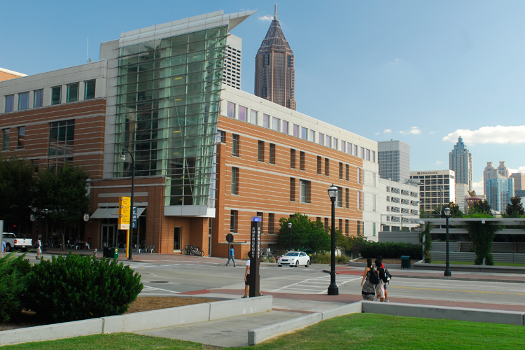 Exterior of the Georgia Tech Global Learning Center