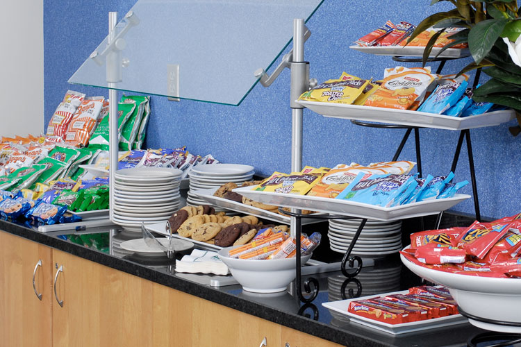 Snack buffet in the Global Learning Center