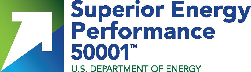 Superior Energy Performane 50001 U.S. Department of Energy logo