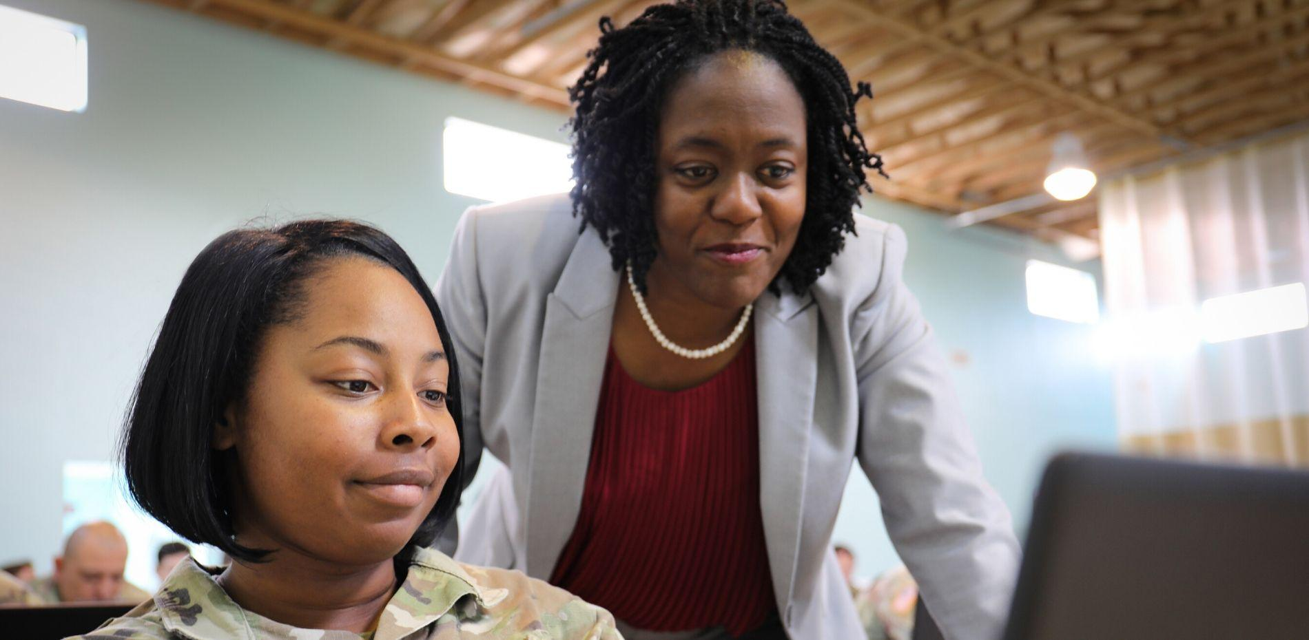 Wanda communicates with military personnel to ensure that they are aware of all career development opportunities available through WorkSource.